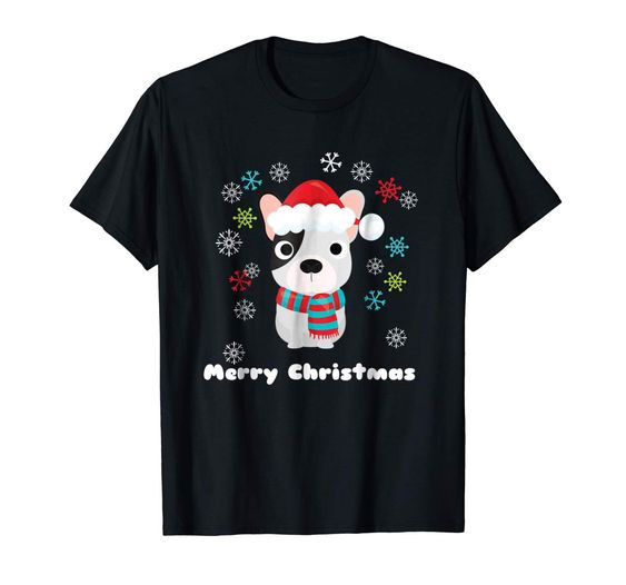 French Bulldog Christmas T Shirt DAP