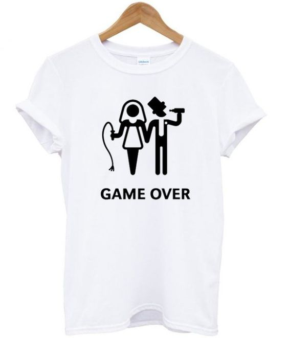 Game over married t-shirt DAP