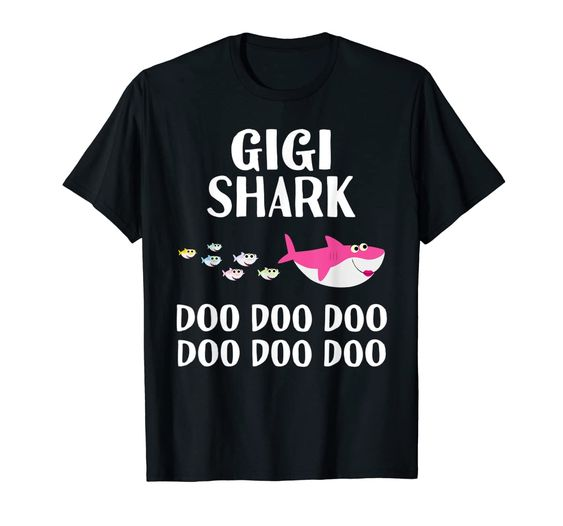 Gigi Shark Doo Doo Grandma Halloween Christmas Mothers Day Men's T-Shirt DAP