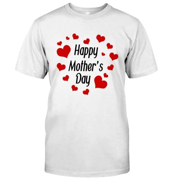 Happy Mothers Day Heart Round T-Shirt DAP