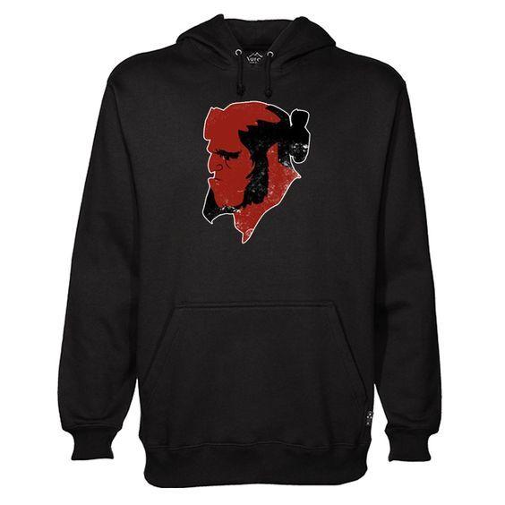 Hellboy Face Black Hoodie DAP