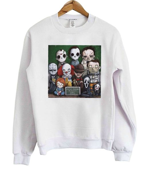 Horror Character Halloween Graphic Sweatshirt DAP