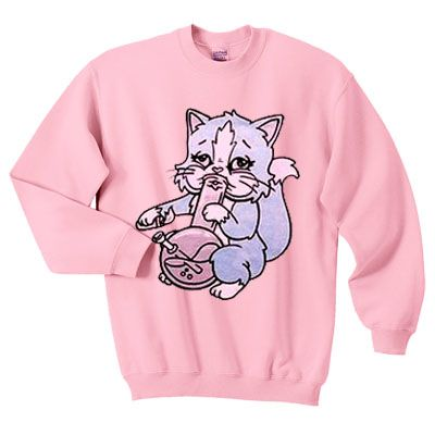 Pastel Bong Cat SWEATER DAP