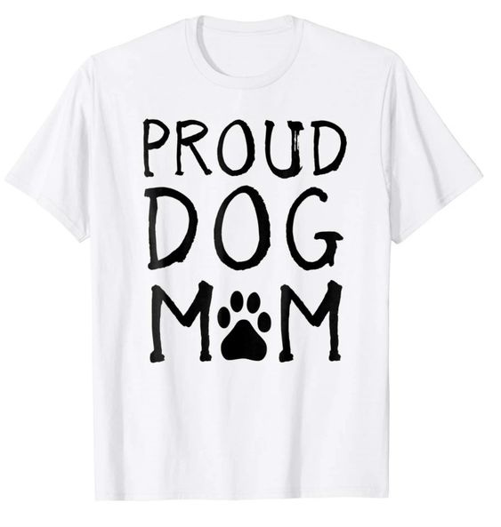 Proud Dog Mom Paw T- Shirt DAP