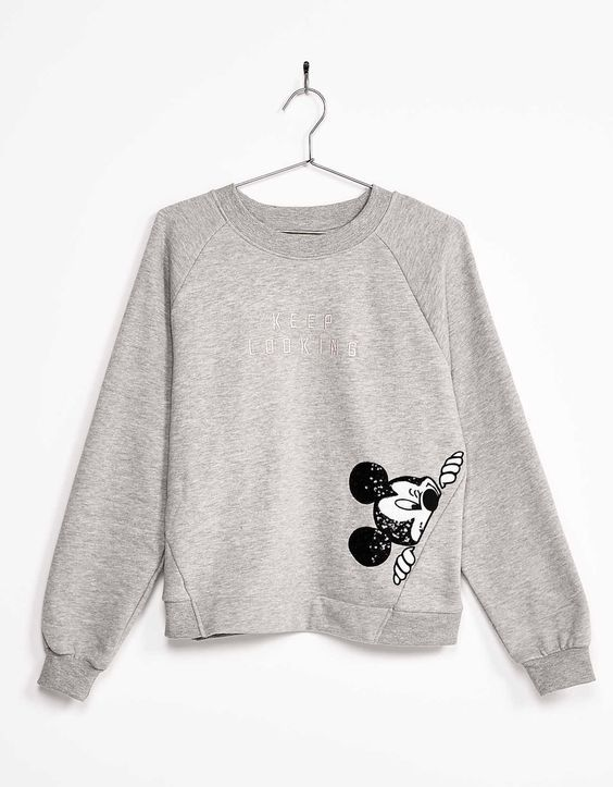 Sequinned Mickey Sweatshirt DAP