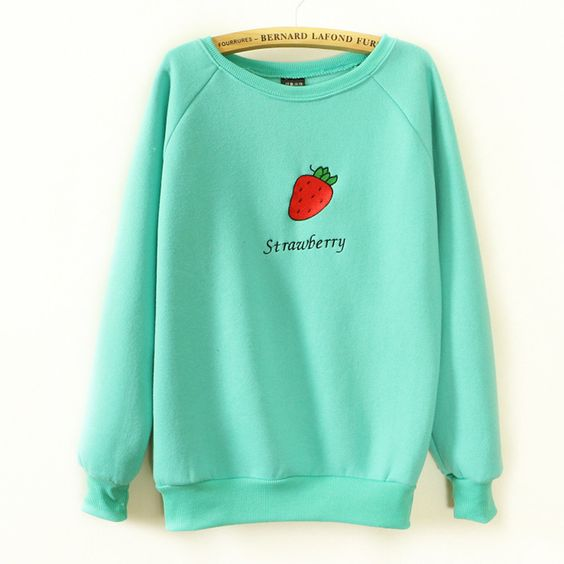 Strawberry Embroideried Sweater DAP