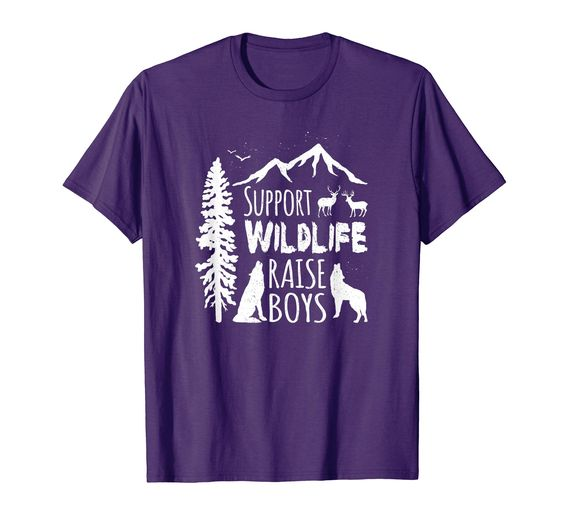 Support Wildlife Raise Boys Shirt DAP
