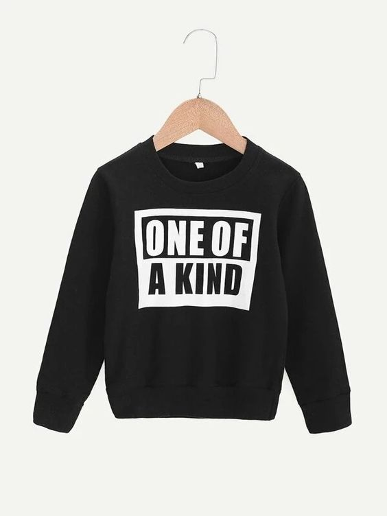 Toddler Boys Letter Print Sweatshirt DAP