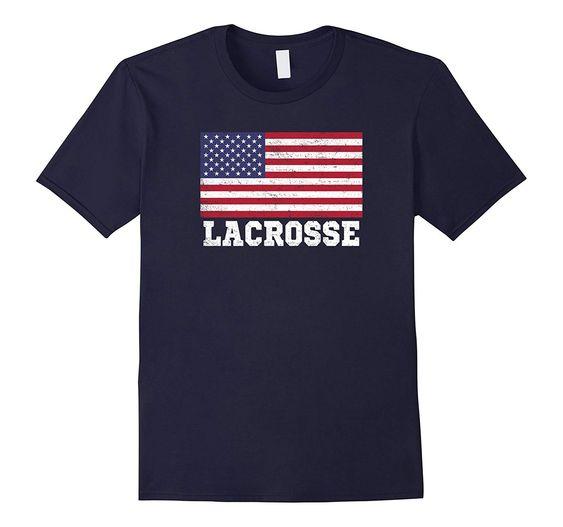 USA Flag Lacrosse Tshirt DAP