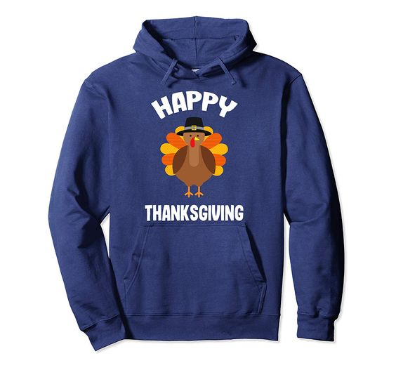 Womens Happy Thanksgiving Pullover Hoodie DAP