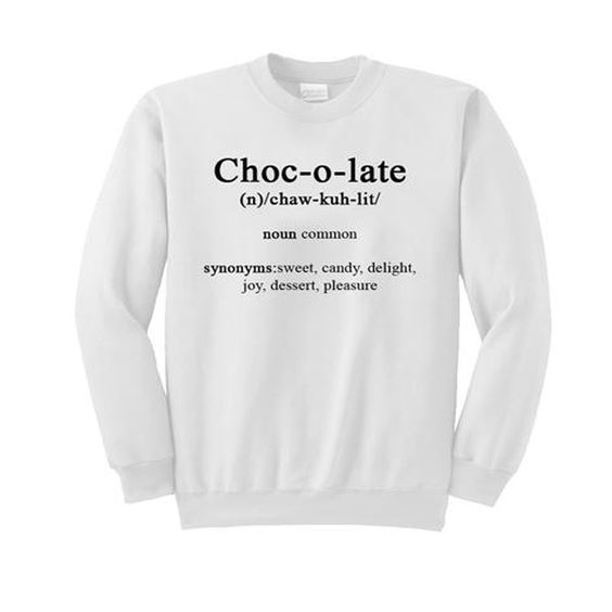 chocolate sweatshirt DAP