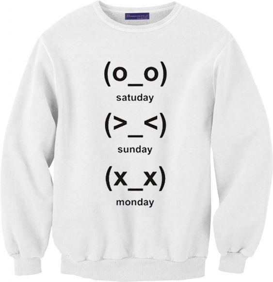 cute emoji days Sweatshirt DAP