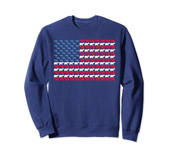 Capybara American Flag Mammal US 4th Of July Animal USA Gift Sweatshirt DAP