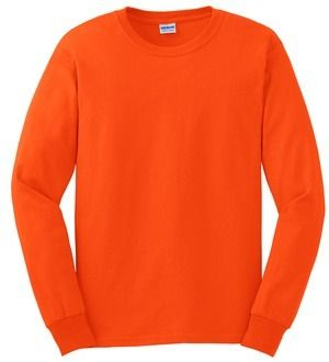 Gildan G2400 Ultra Cotton Long Sleeve Hi Vis Safety Green or Safety Orange Sweatshirt DAP