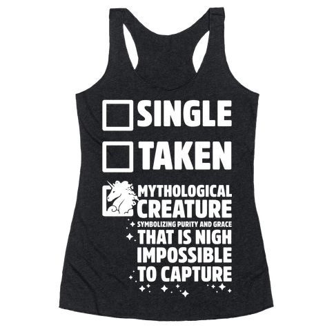 Single Taken Mythological Creature Racerback Tank Tops DAP