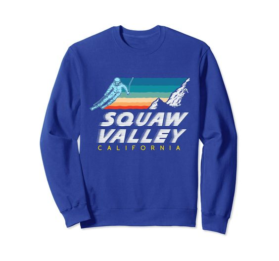Squaw Valley Cali - USA Ski Resort 1980s Retro Sweatshir DAP