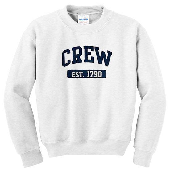 crew est 1790 sweatshirt DAP