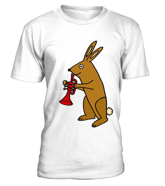 Funky brown bunny rabbit playing red tru rabbit duck t shirt dap