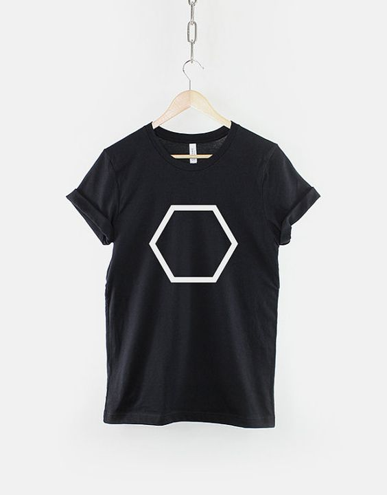 Geometric Hexagon Polygon Shape Hipster T-ShirtDAP