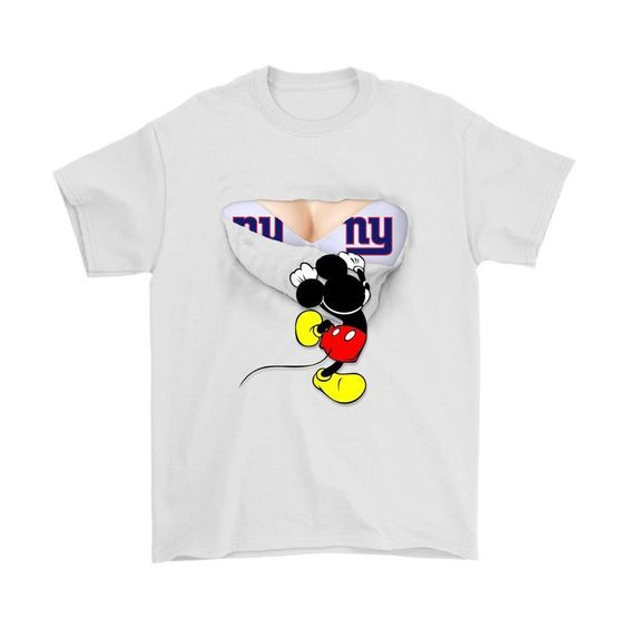 Secretly I'M An New York Giants Fan Mickey Football Shirts DAP