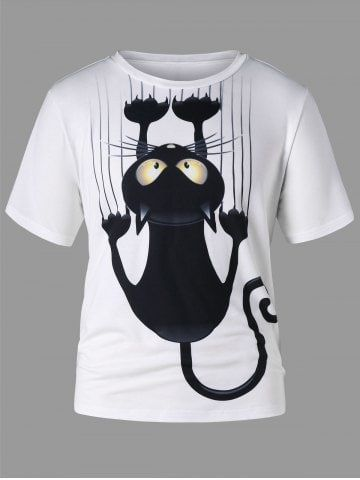Short Sleeve Black Cat T-shirt DAP