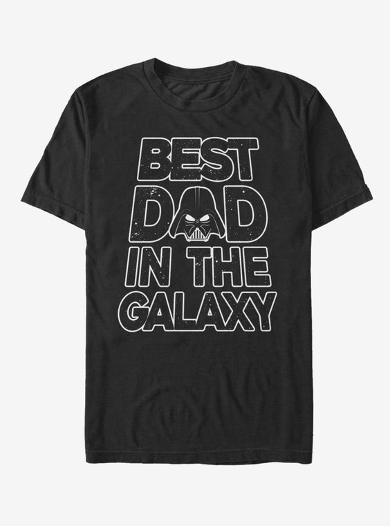 Star Wars Father's Day Best Dad Darth Vader Helmet T-ShirtDAP
