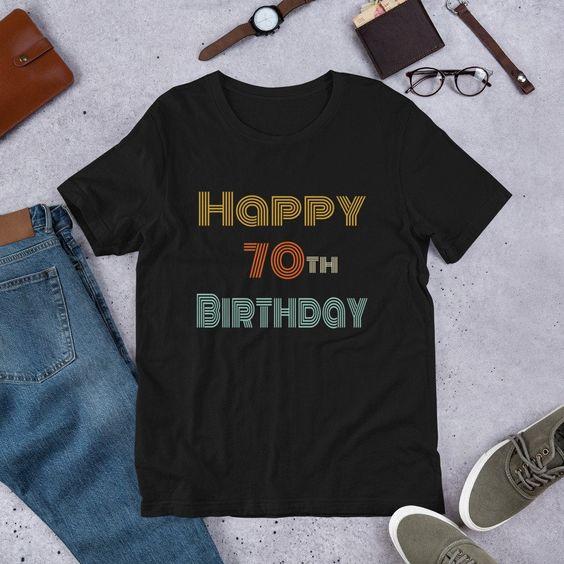 Happy 70th BirthdayTshirtDAP